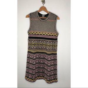 New Missoni metallic textured sleeveless dress 46
